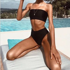 Black Solange Tiger Mist Bikini Set